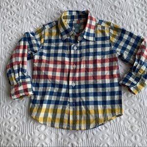 Gap Baby plaid Button up shirt size 2T
